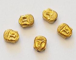 Antikt guldfärgad hematit buddha, 10 st