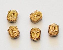 Kopparfärgad hematit buddha, 10 st