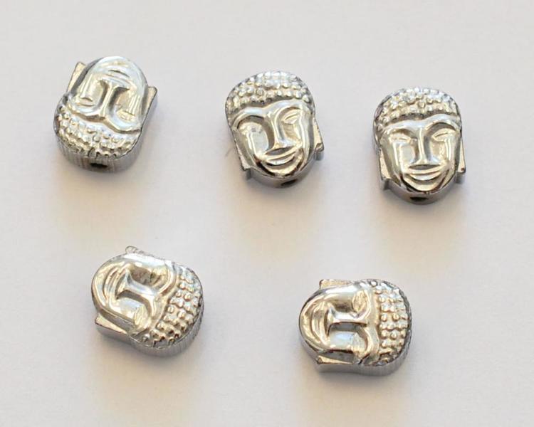 Hematitbuddha silver, 1 st