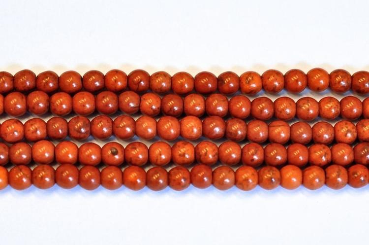 Howlite 8 mm brun, 1 sträng