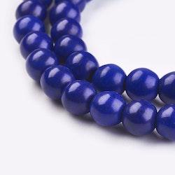 Howlite 8 mm blå, 1 sträng