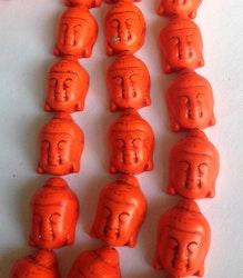 Howlite orange Buddha, 1 st