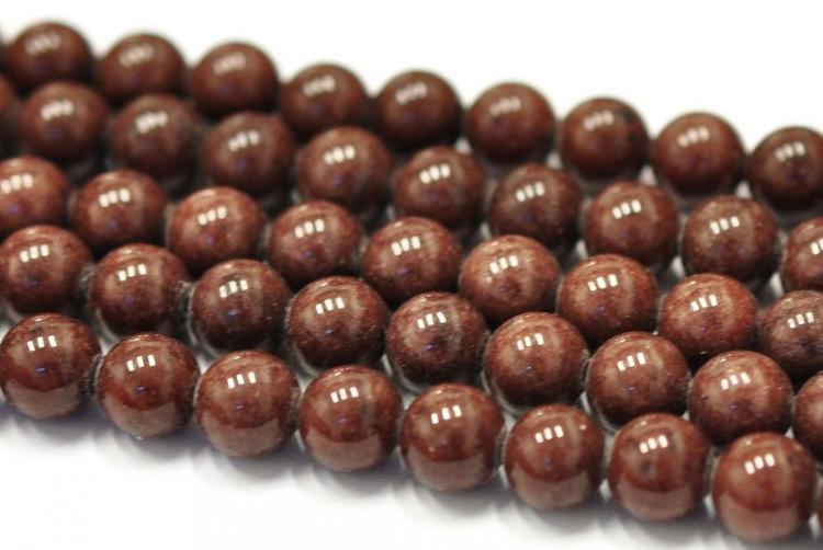 Jade 4 mm brun, 1 sträng