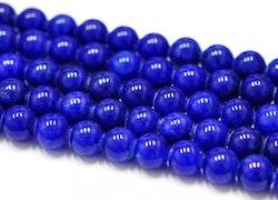 Jade 6 mm mörkblå, 10 strängar