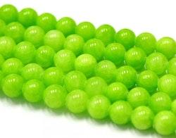 Jade 6 mm lime, 1 sträng