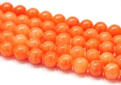 Jade 6 mm orange, 1 sträng
