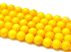 Jade 6 mm gul, 10 strängar