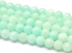 Jade 6 mm aqua, 10 strängar