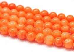 Jade 8 mm orange, 1 sträng