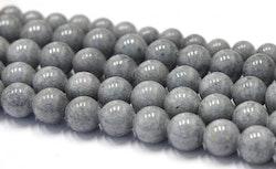 Jade 8 mm grå, 1 sträng