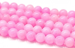 Jade 8 mm rosa, 10 strängar