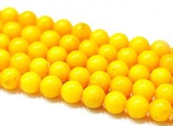 Jade 8 mm gul, 10 strängar
