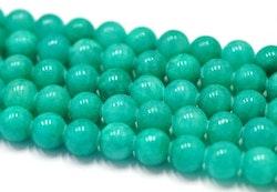 Jade 8 mm blågrön, 10 strängar