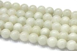 Jade 8 mm ljusgrå, 10 strängar
