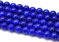 Jade 8 mm mörkblå, 1 sträng