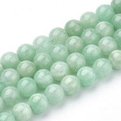 Naturlig jade grön, 8 mm, 1 sträng