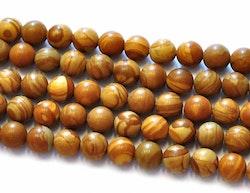 Jaspis Wood 8 mm, 10 strängar