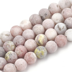 Frostad jaspis rosamelerad 6 mm, 1 sträng