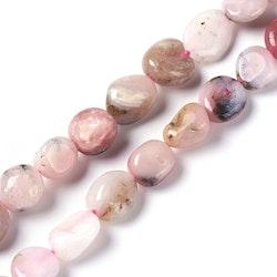 Rosa Opal nuggets, 1 sträng