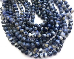 Sodalit mörkblå 8 mm, 1 sträng