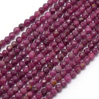 Facetterad rubin 3.5 mm, 1 sträng