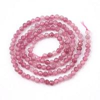 Facetterad rosa turmalin 3 mm, 1 sträng