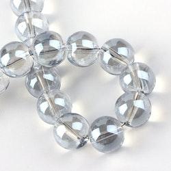 Glaspärlor 8 mm isblå, 1 sträng