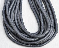 Heishi pärlor svart, 1 sträng