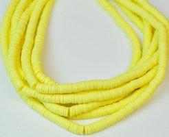 Heishi pärlor gul, 1 sträng