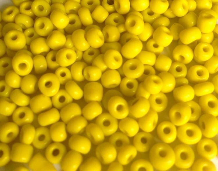 Seed beads 4 mm gul, 20 gr (ca 150 st)