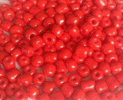 Seed beads 4 mm orange/röd, 20 gr (ca 150 st)
