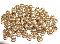 Seed beads 4 mm guld, ca 2500 st