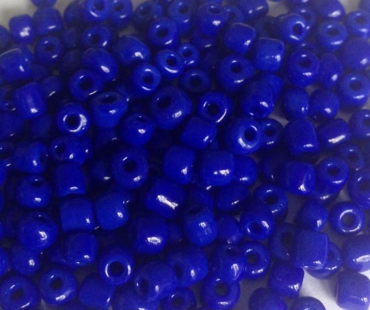 Seed beads 4 mm mörkblå, ca 2500 st