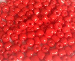 Seed beads 4 mm orange/röda, ca 2500 st