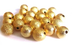 Guldfärgade stardust 4 mm, 20 st