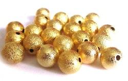 Guldfärgade stardust 8 mm, 10 st