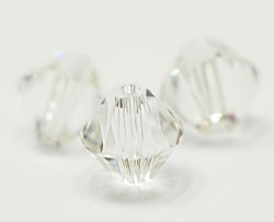 Swarovski 4 mm bicone glas, 1 st