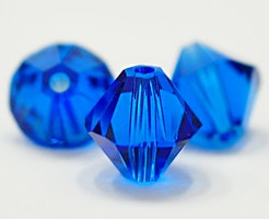 Swarovski 6 mm bicone blå, 1 st