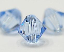 Swarovski 6 mm bicone ljusblå, 1 st
