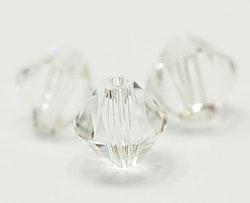 Swarovski 6 mm bicone glas, 1 st