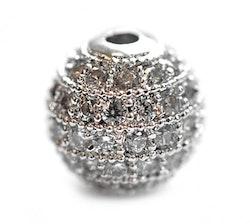 Strasspärla antik 8 mm, 1 st