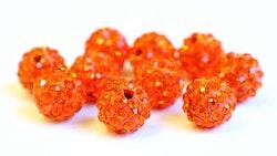 Strasskula 10 mm orange, 1 st
