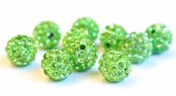 Strasskula 10 mm ljusgrön, 1 st