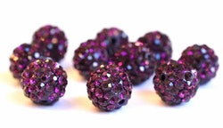 Strasskula 8 mm violet, 1 st