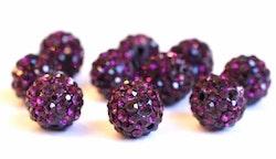 Strasskula 6 mm violet, 1 st