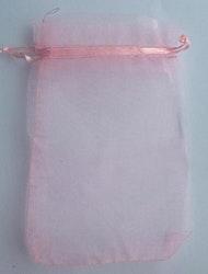 Organzapåsar rosa små, ca 100 st