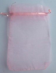 Organzapåsar rosa stora, ca 100 st