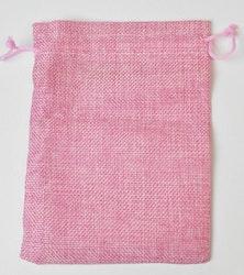Tygpåse rosa 18 cm, 1 st