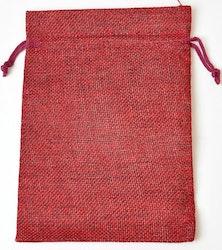 Tygpåse mörkröd 13 cm, 1 st