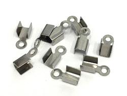 Rostfritt stål, platta fästen 3 mm, 10 st